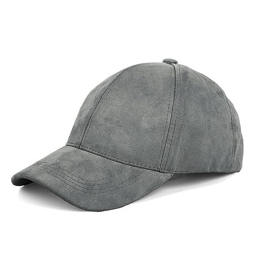 JOOWEN Unisex Faux Suede Baseball Cap Adjustable Plain Dad Hat for Women Men 3637dc665797