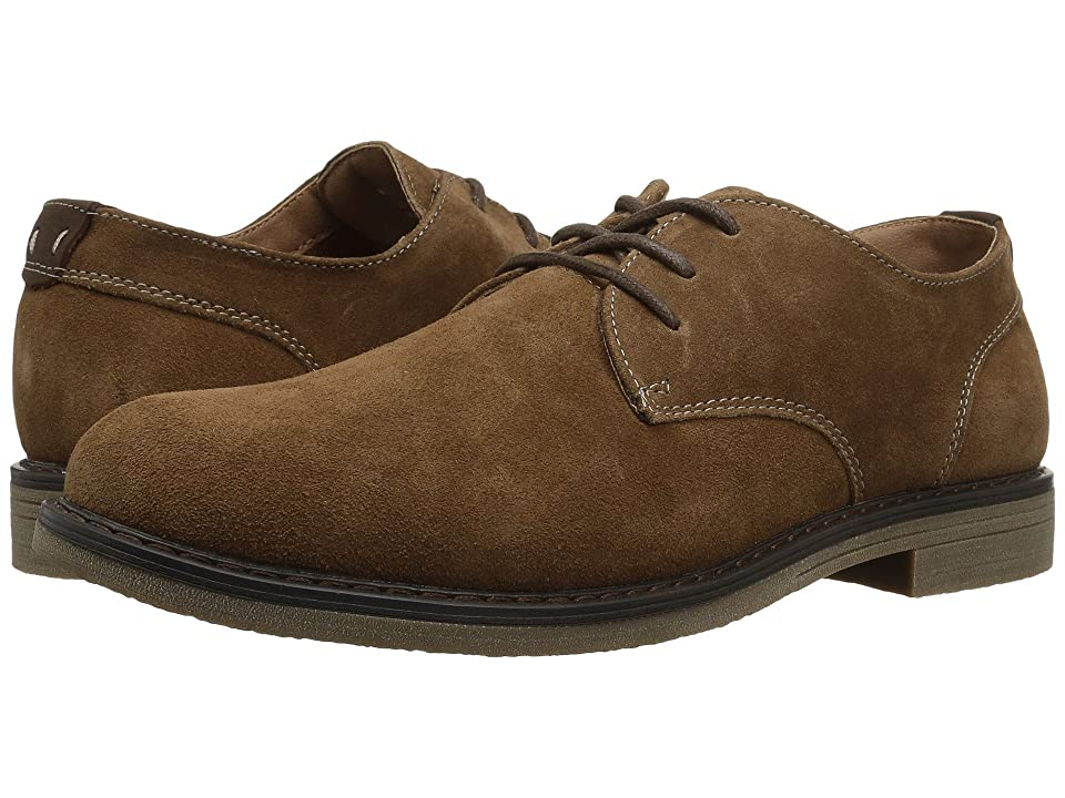Nunn Bush Linwood Plain Toe Oxford (Camel Suede) Men
