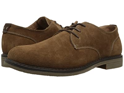Nunn Bush Linwood Plain Toe Oxford (Camel Suede) Men