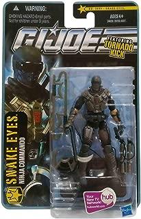 G.I. Joe Pursuit of Cobra (POC) Snake Eyes (Ninja Commando) with Tornado Kick 3.75 Inch Action Figure