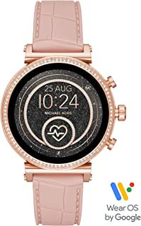 Michael Kors Women's Quartz Wrist Watch smart Display and Silicone Strap, MKT5068