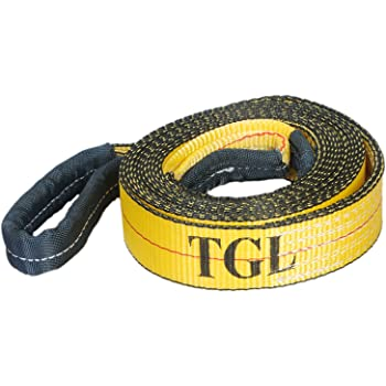 PROGRIP 140610 Light Duty Tow and Recovery Strap with Flat Webbing and Hooks 10 x 1 3//4 White