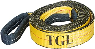 TGL 2 inch, 20 Foot Tow Strap with Reinforced Loops 10,000 Pound Capacity