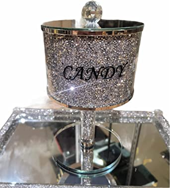 BLING Candy Jar Sparkle Ornament Crushed Diamond Gift | CRYSTALLIZED Kitchen Jar Storage Box Canister