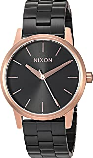 Nixon Women's 'Small Kensington' Quartz Metal and Stainless Steel Watch, Color:Black (Model: A3612481-00)