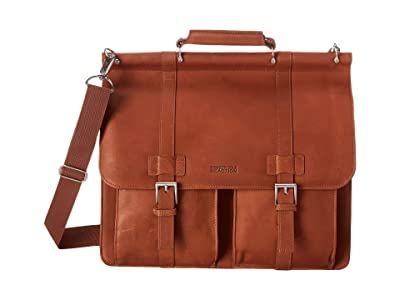 Kenneth Cole Reaction Colombian Leather Dowel Rod/Portfolio Computer Case (Cognac) Briefcase Bags