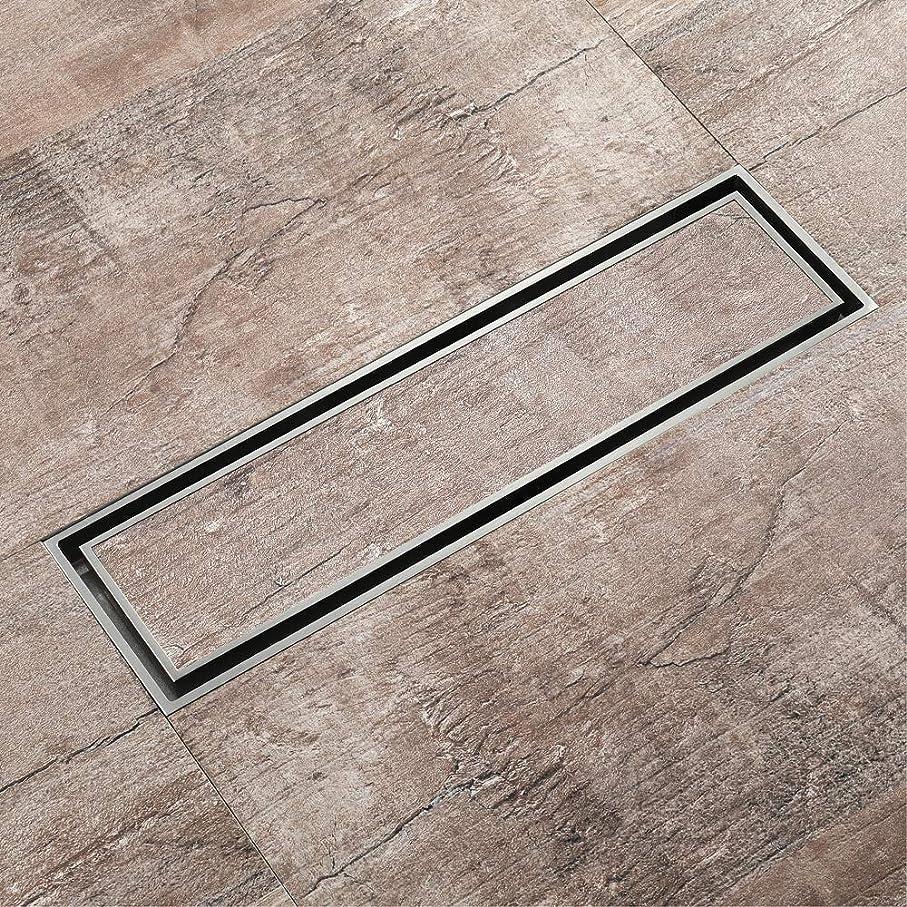 キルス橋メンタータイル挿入格子付きリニアシャワードレン、完全銅製の長方形シャワーフロアドレン、310 * 82mmフロアシャワードレン
