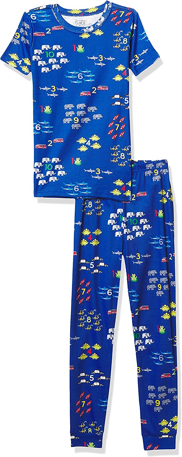 The Children's Place Baby And Toddler Boys Counting Snug Fit Cotton Pajamas