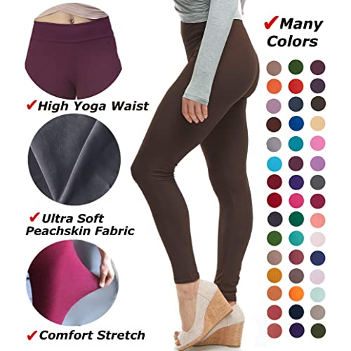 6384af5f177ee LMB Women's Extra Soft Leggings with High Yoga Waist Pants 40+ Colors Plus  Sizes