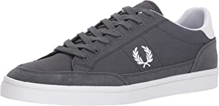 Fred Perry Men's Deuce Canvas Sneaker, Charcoal, 9 D UK (10 US)