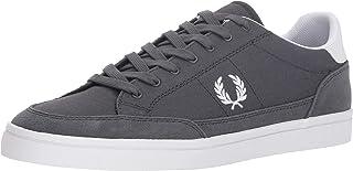 Fred Perry Men's Deuce Canvas Sneaker, Charcoal, 7 D UK (8 US) (B3118-491-7 D UK (8 US))