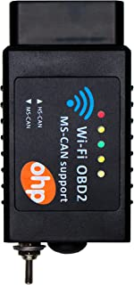 WIFI FORScan OBD2 Adapter, OHP ELM327 Scan Tool w/ MS-CAN HS-SCAN Switch for Ford Mazda, Windows, Android & iOS (Mac, iPhone & iPad)