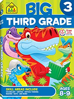 School Zone - Big Third Grade Workbook - Ages 8 to 9, 3rd Grade, Reading, Writing, Math, Science, History, Social Science, and More (School Zone Big Workbook Series)