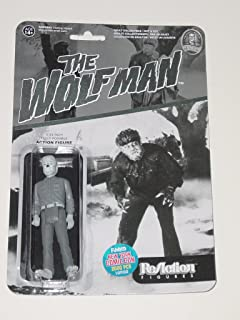 Funko Reaction THE WOLFMAN Universal Monsters 3.75 inch Action Figure 2015 NYCC Black & White Exclusive 1 of 2000 [New York Comic Con] Wolf Man