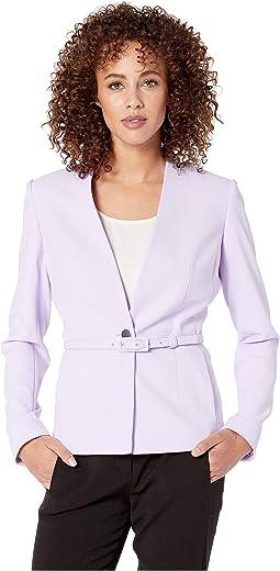 Crepe Belted Jacket