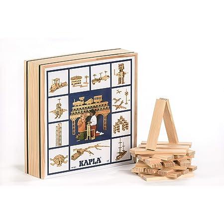 Kapla - Confezione da 100 mattoncini in legno per giocare a costruire