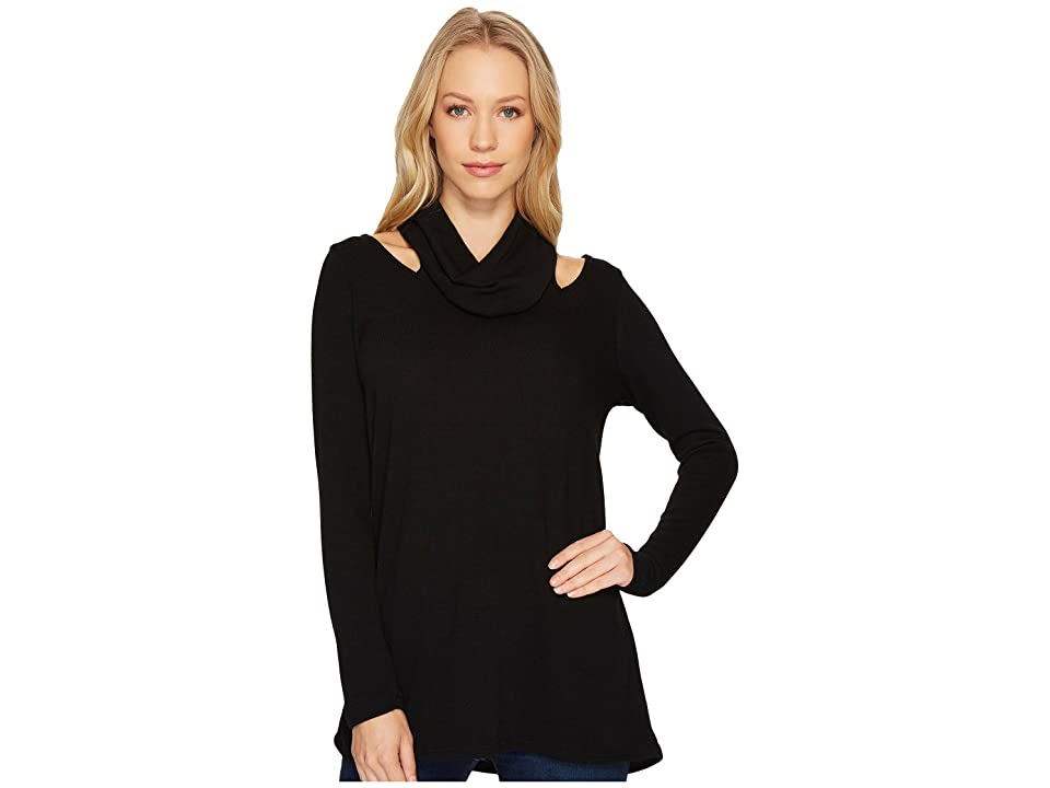 Karen Kane Cut Out Cowl Neck Sweater (Black) Women