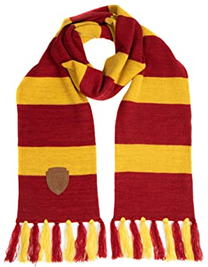 Harry Potter Gryffindor Premium Knit Scarf with Patch Emblem