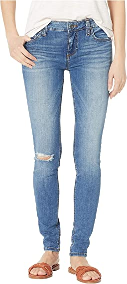 Mia Toothpick Skinny Jeans in Lighten w/ Medium Base Wash