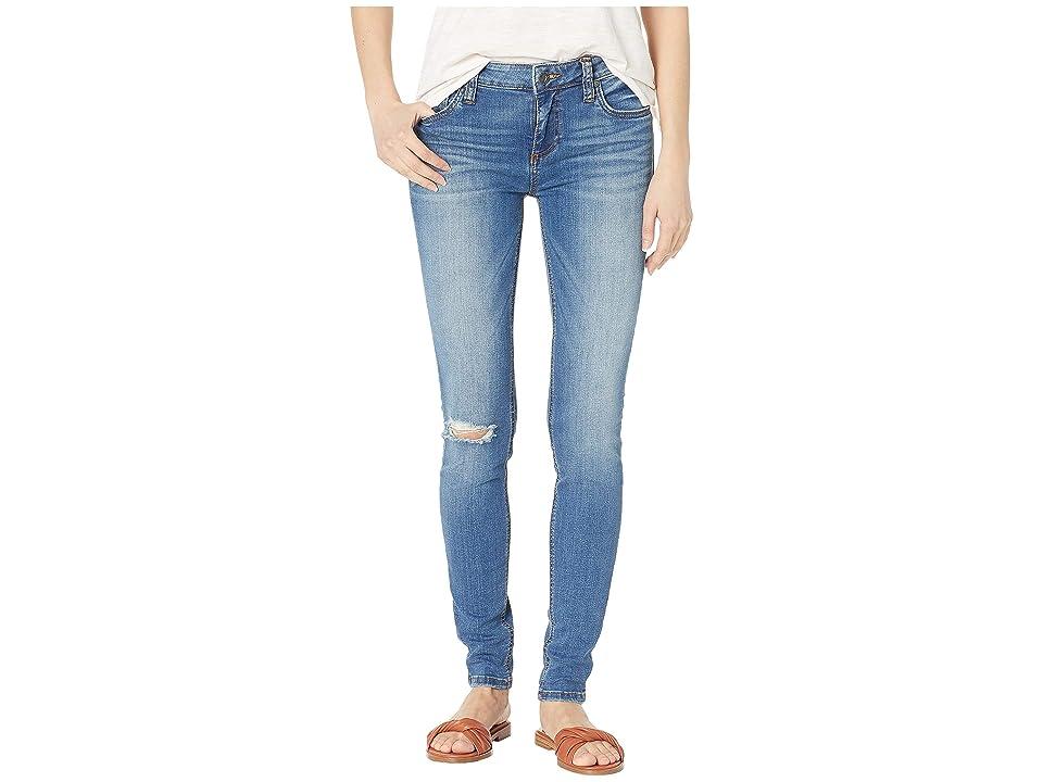 KUT from the Kloth Mia Toothpick Skinny Jeans in Lighten w/ Medium Base Wash (Lighten w/ Medium Base Wash) Women