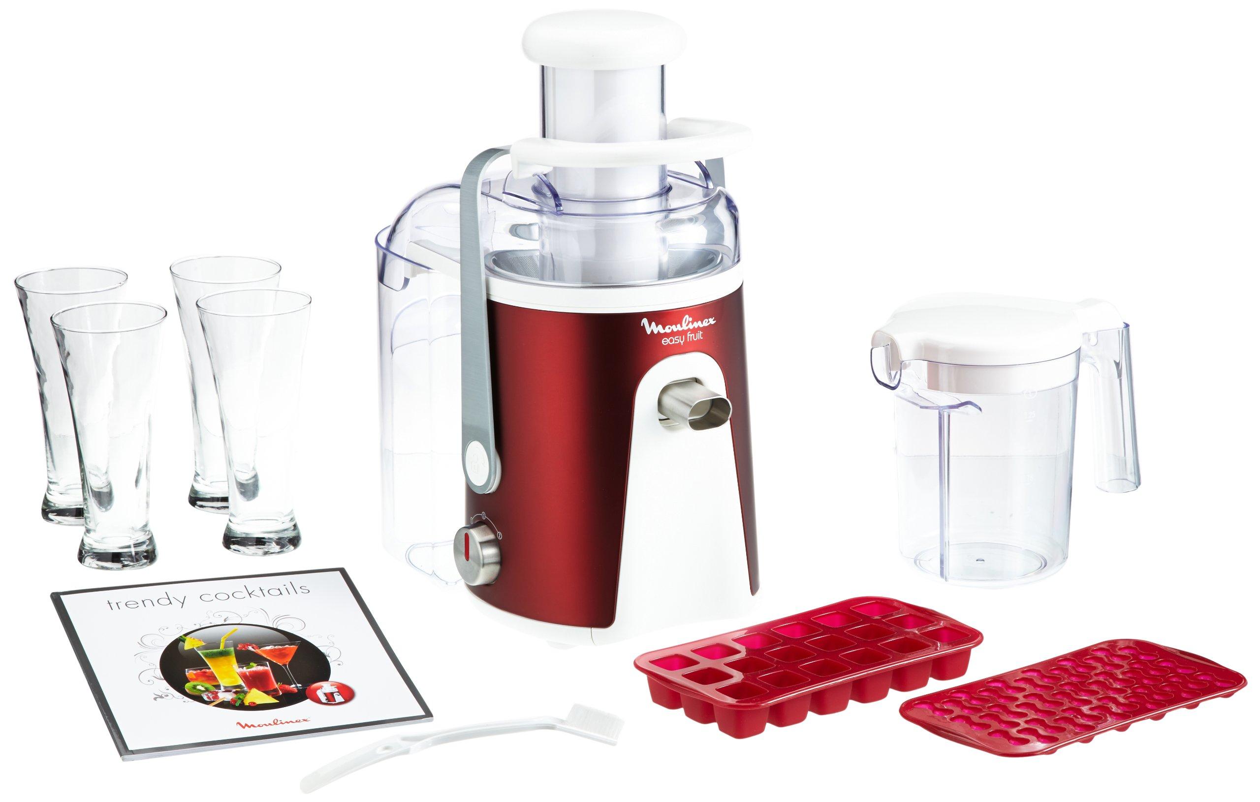 Moulinex JU587G - Exprimidor eléctrico, color rojo: Amazon.es: Hogar
