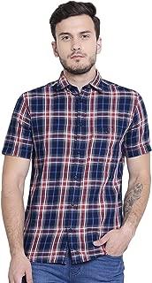 Crimsoune Club Navy Blue Check Men's Shirt