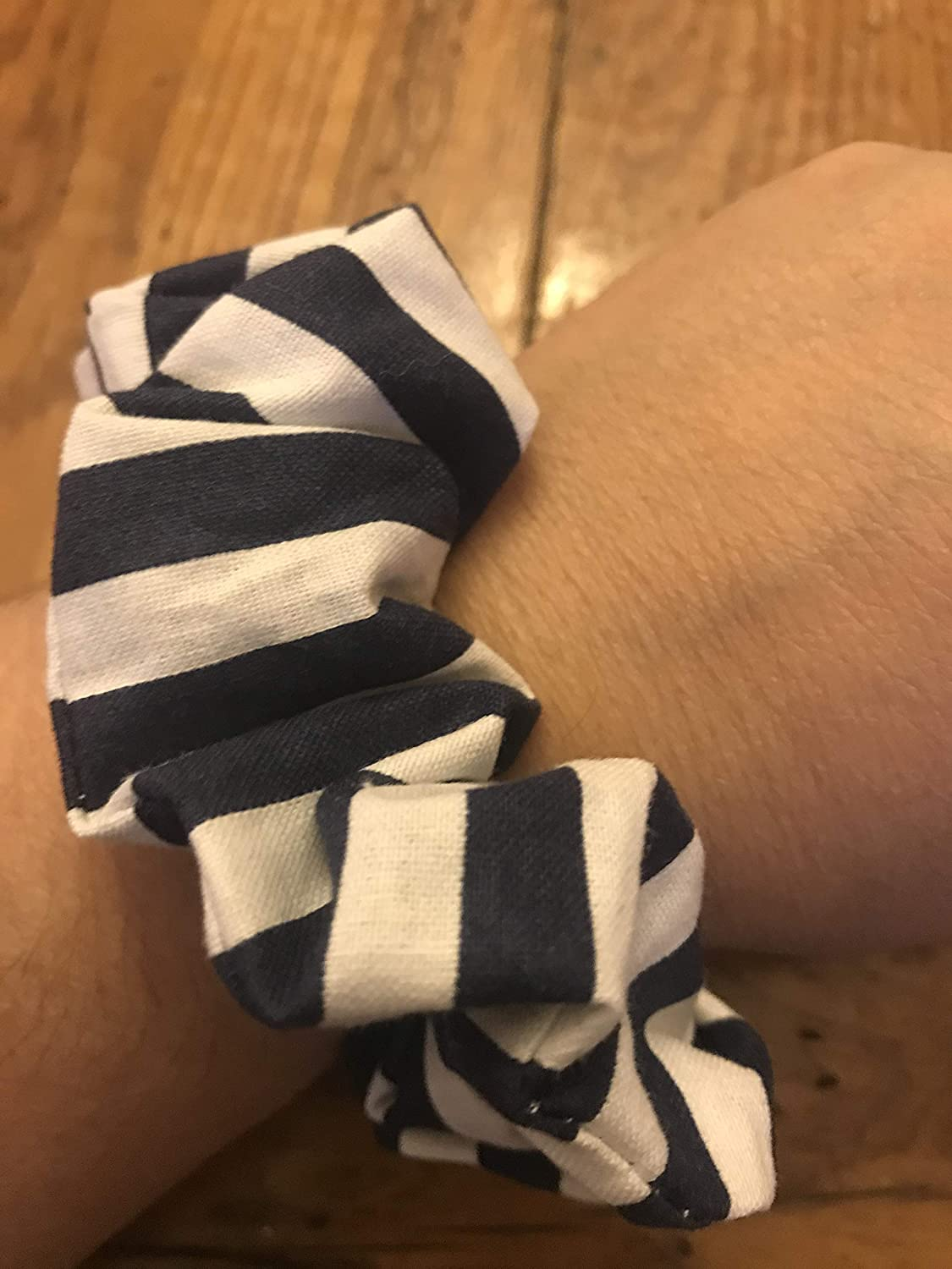 Navy and white Limited Special Price Scrunchie for Raleigh Mall Hair Scrunchies stripe