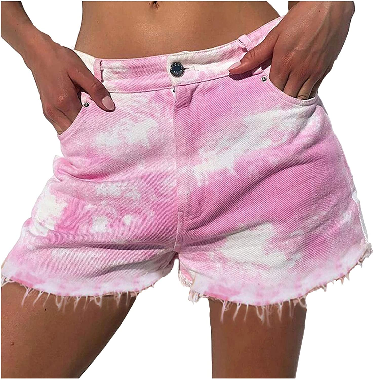 FORUU Denim Shorts 2021,Summer Womens Jean Shorts Sexy Jeans Fashion High Waist Slim Hole Shorts Pants