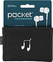 UT Wire Pocket Snap & Store Earphone Case Pouch, Black