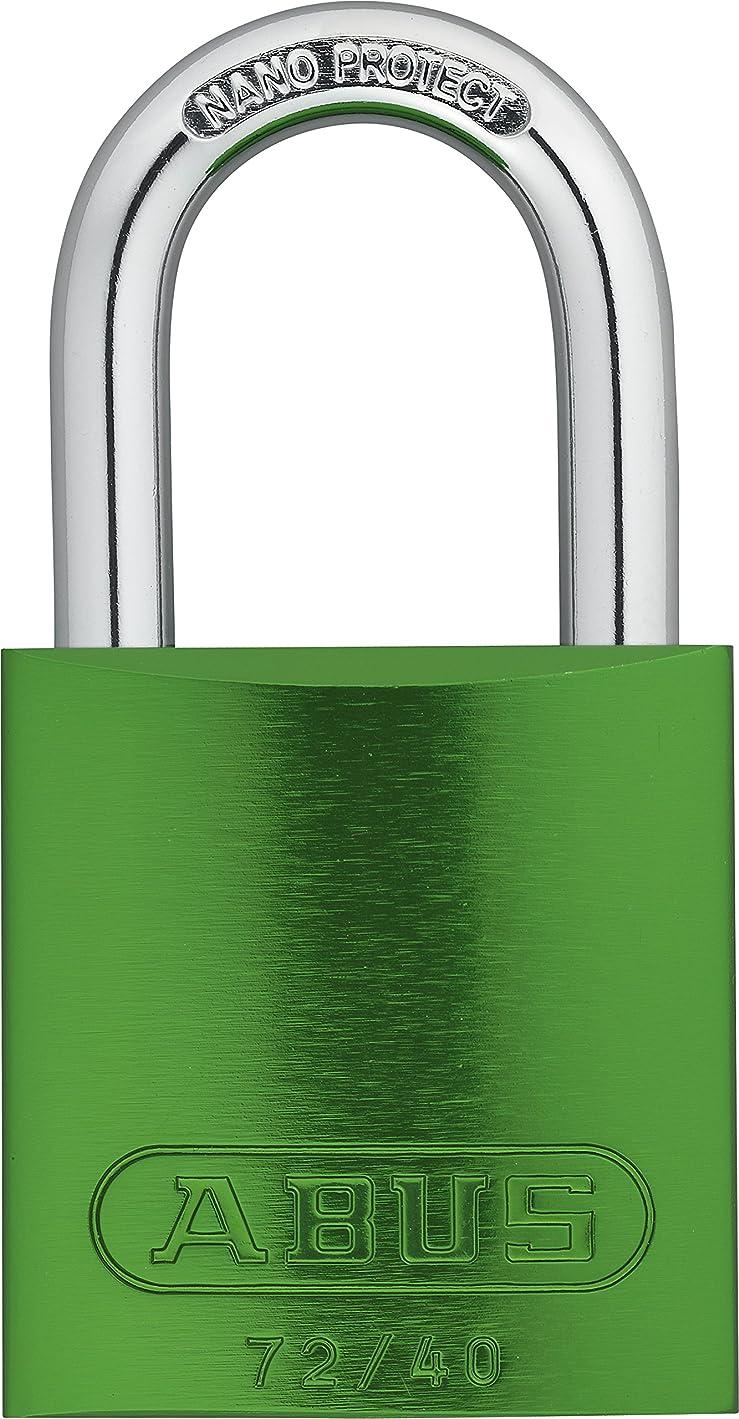 チョーク頬長椅子ABUS 72/40 KA Safety Lockout Aluminum Keyed Alike Padlock with 1-Inch shackle, Green by ABUS