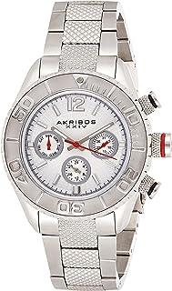 Akribos XXIV Womens Quartz Watch, Analog Display and Stainless Steel Strap AK695SS