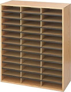Safco Products Wood/Corrugated Literature Organizer, 36 Compartment 9403, Economical Organization, Letter-Size Compartments
