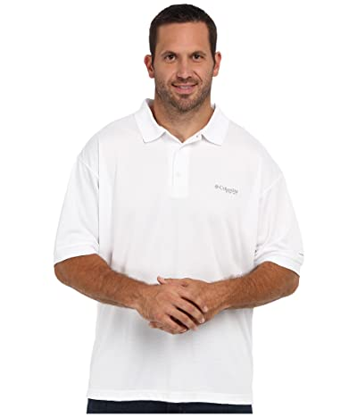 Columbia Big Tall Perfect Casttm Polo (White) Men