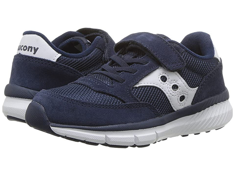Saucony Kids Originals Jazz Lite A/C (Little Kid) (Navy/White) Kids Shoes