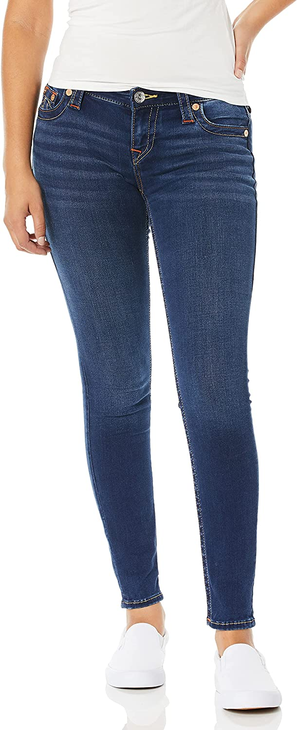 True Religion Women's Halle Mid Jean Rise Fit Skinny High Max 75% OFF quality new Super