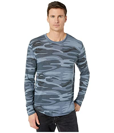 Alternative Long Sleeve Eco Shirttail Tee (Blue Camo) Men