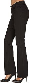 Women's Curvy Fit Black Stretch Denim Basic Slim Bootcut Jeans