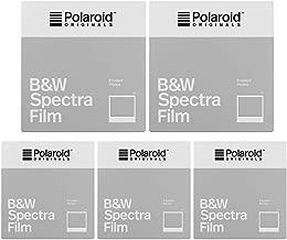 Polaroid Originals Instant Black and White Film for Spectra Cameras (5 Pack)