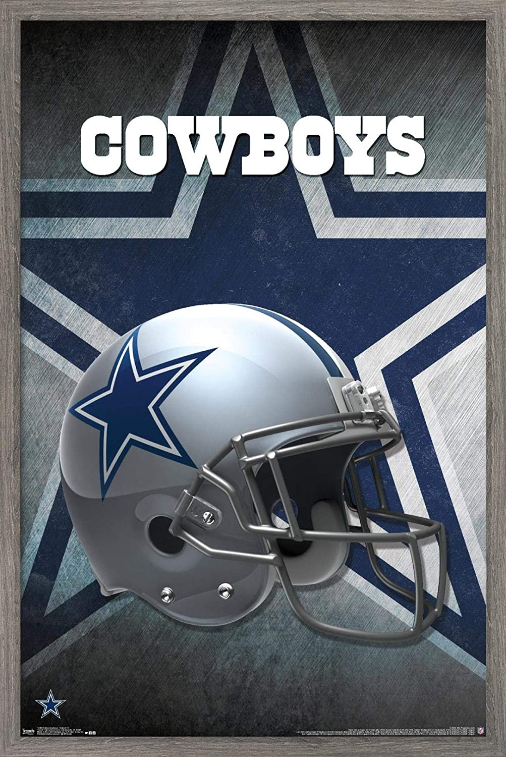Trends International Max outlet 78% OFF NFL Dallas Cowboys 16 Wall - Poster Helmet