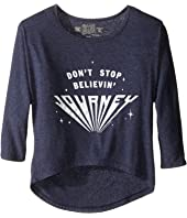 The Original Retro Brand Kids - Journey Don't Stop Beleivin 3/4 Dolman Sleeve (Big Kids)