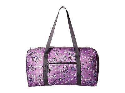 Vera Bradley Packable Duffel Bag (Lavender Dandelion) Duffel Bags
