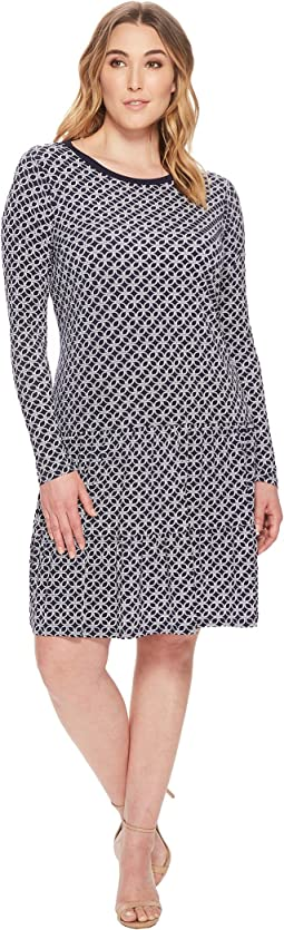 MICHAEL Michael Kors Plus Size Rope Geo T-Shirt Dress