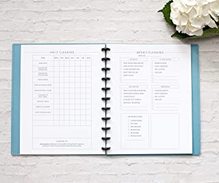 BetterNote Cleaning Schedule Kit for Disc Bound Planners, Fits 11-Disc Letter Size Notebooks, 6 Month Supply, 8.5