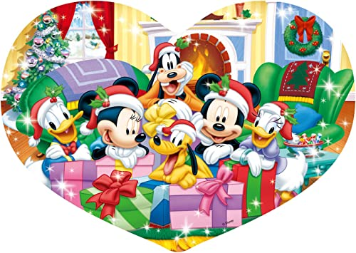 Disney Stained Art Heart full 180-piece puzzle and Panel set Heart full Christmas set DSH-180-427 (japan import)