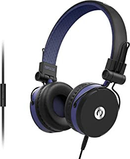 MuveAcoustics Impulse Wired On-Ear Headphones with Microphone (Flagship Blue)