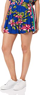 TOMMY HILFIGER Women's Tropical Print Pleated Shorts, Tropical Pleated/Surf The Web