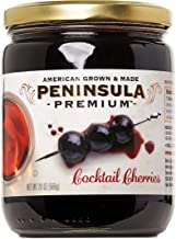 Peninsula Premium Cocktail Cherries | Award Winning | For Cocktails and Desserts | American Grown and Made (20 oz)