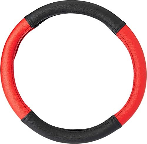 Amazon Brand - Solimo Steering Cover (Small), Red