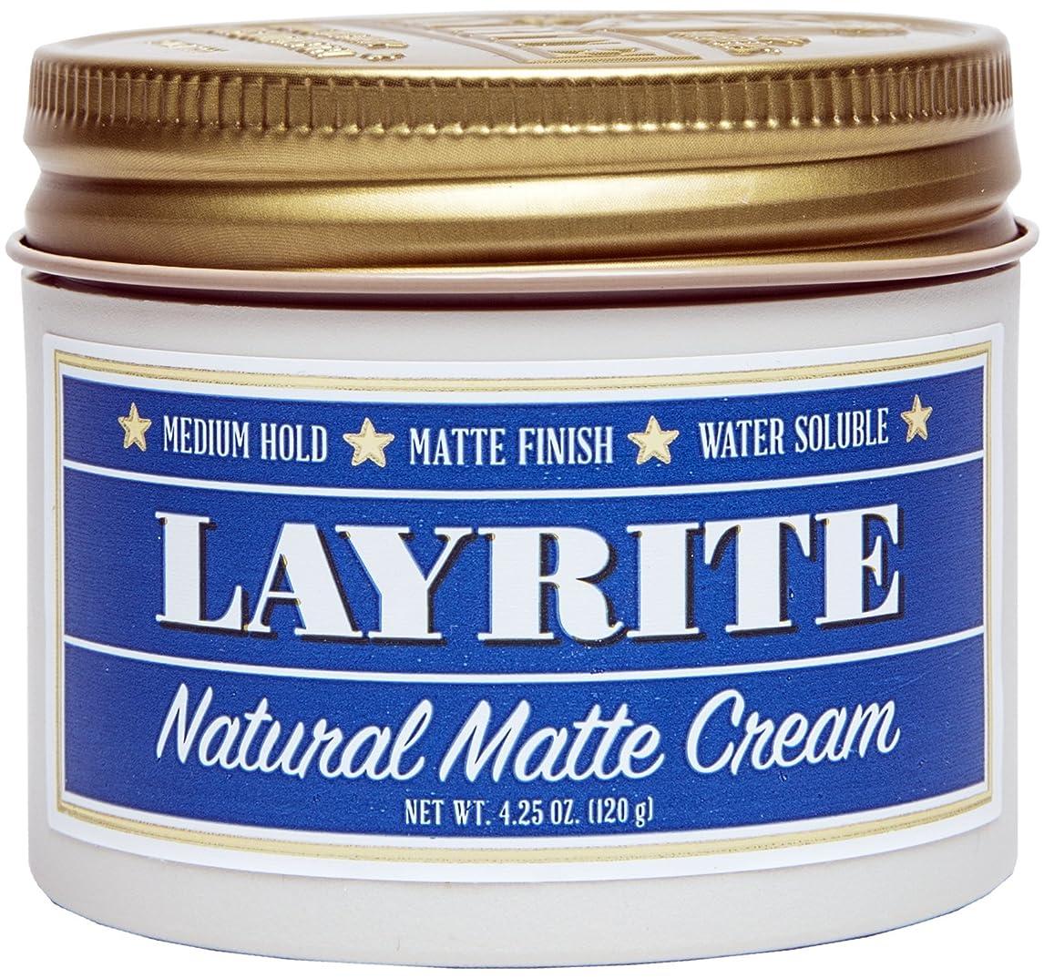 運搬追加するモーターLayrite Natural Matte Cream (Medium Hold, Matte Finish, Water Soluble) 120g/4.25oz並行輸入品
