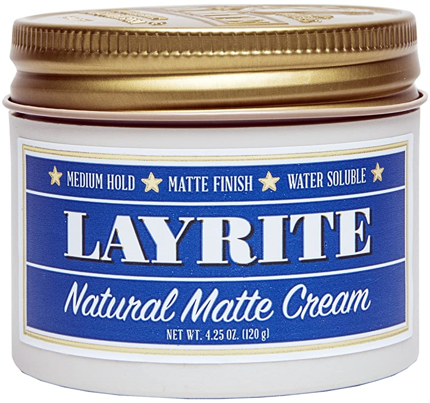 リフレッシュ趣味アニメーションLayrite Natural Matte Cream (Medium Hold, Matte Finish, Water Soluble) 120g/4.25oz並行輸入品